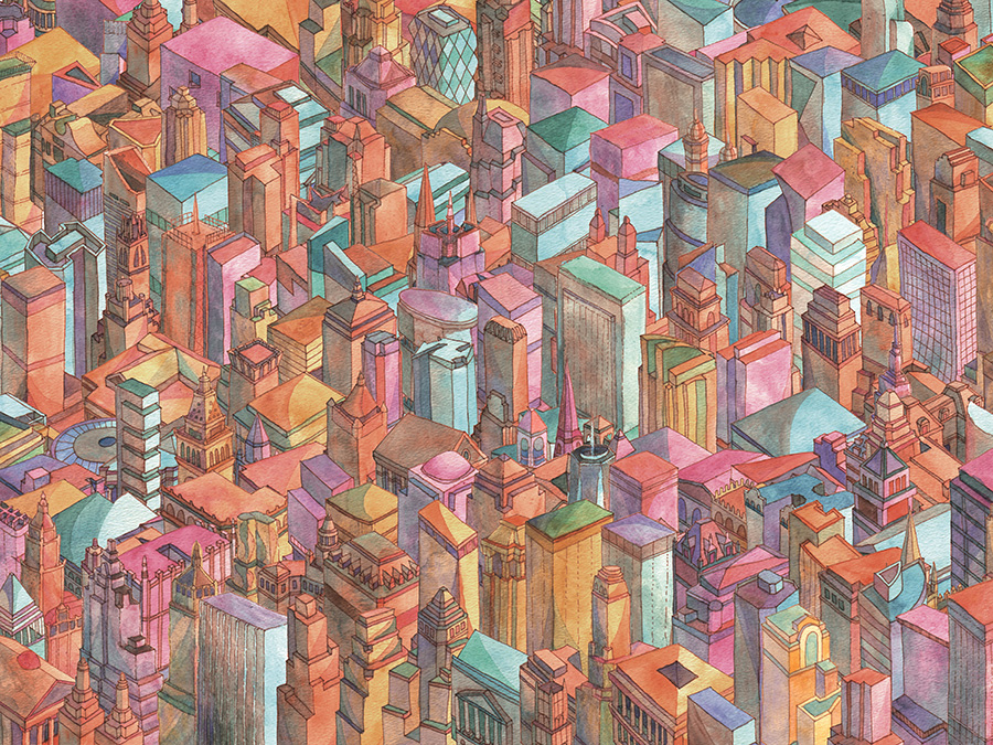 Continuous City Art Print
